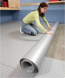 Hide a hopeless garage floor