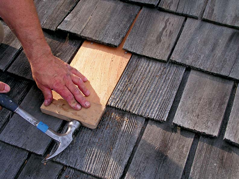 wood shingle repair